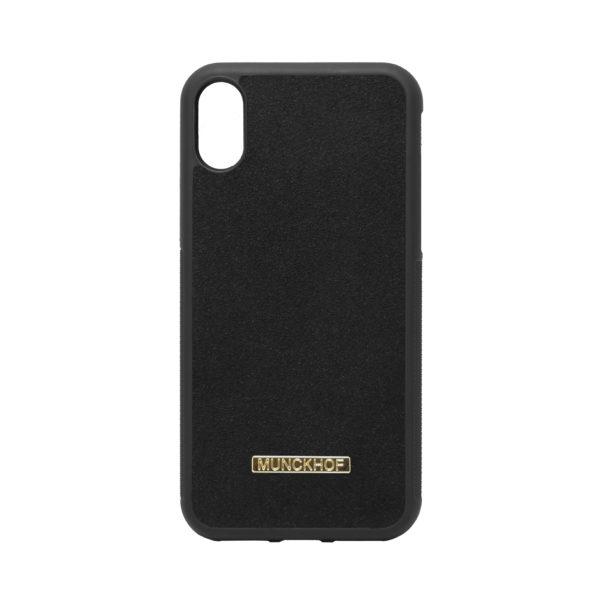 Black Alcantara iPhone X/XS Case