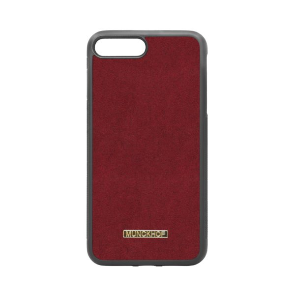 Red Alcantara iPhone 7 Plus/8 Plus Case