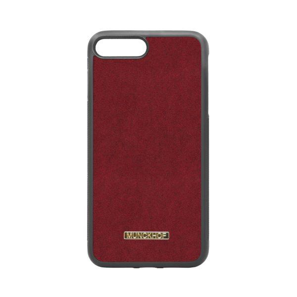 Red Alcantara iPhone 7 Plus/8 Plus Case