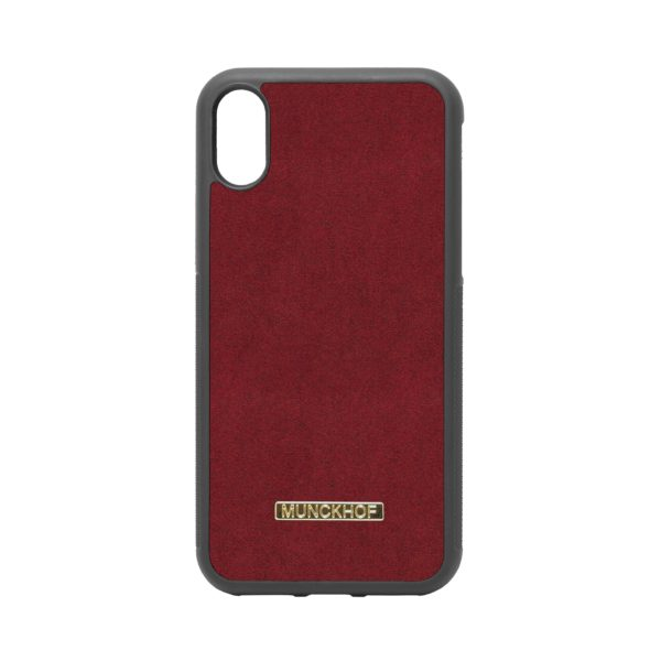 Red Alcantara iPhone X/XS Case