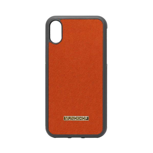 Orange Alcantara iPhone X/XS Case