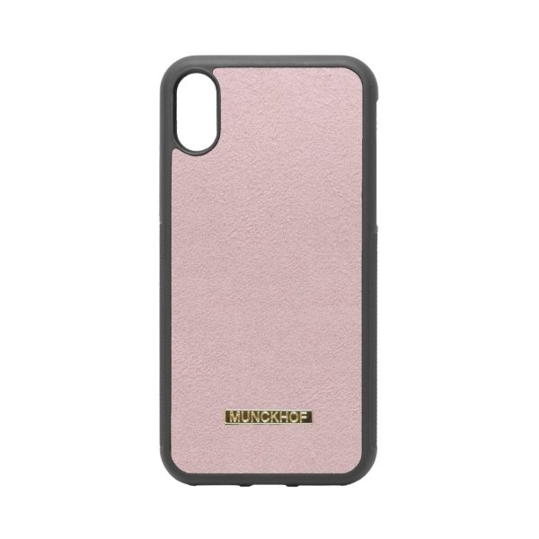 Pink Alcantara iPhone X/XS Case