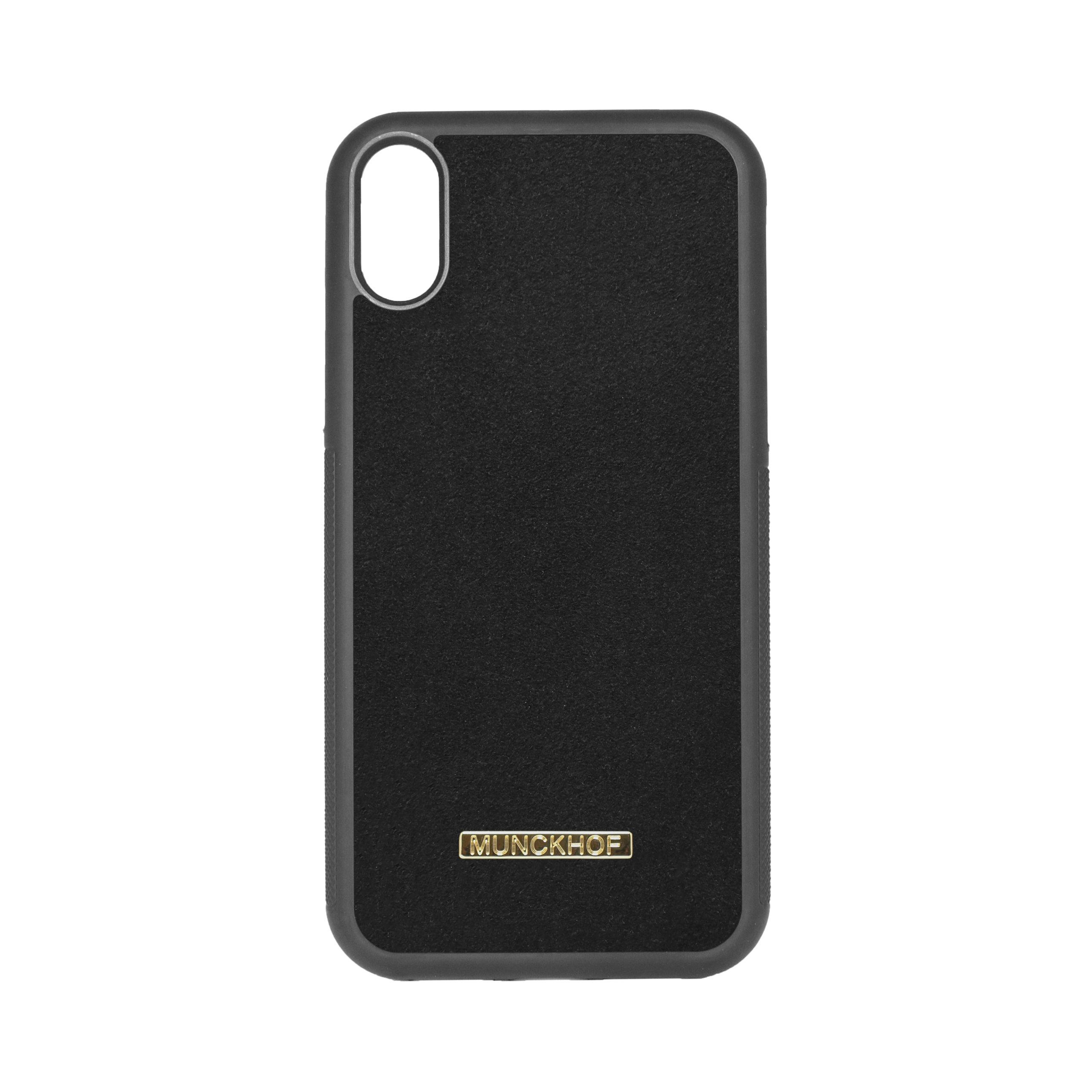 Black Alcantara iPhone XR Case