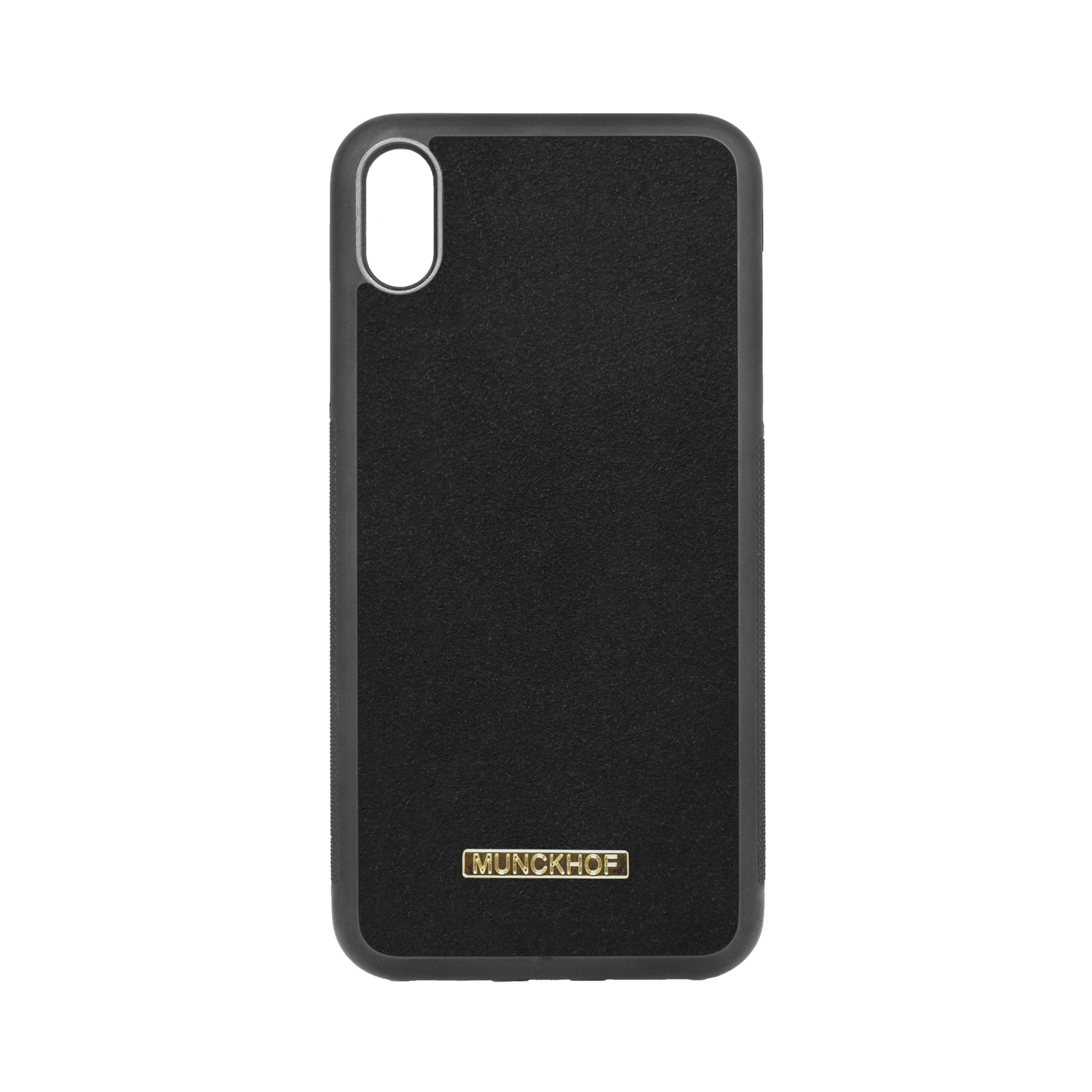 Black Alcantara iPhone XS Max Case