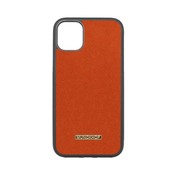Orange Alcantara iPhone 11 Case