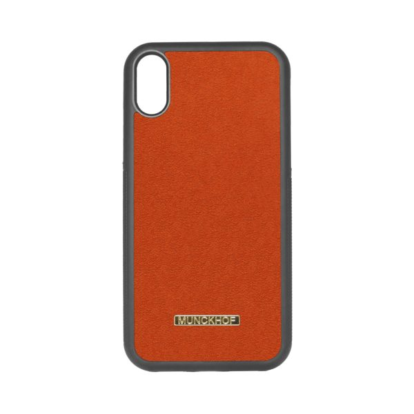 Orange Alcantara iPhone XR Case