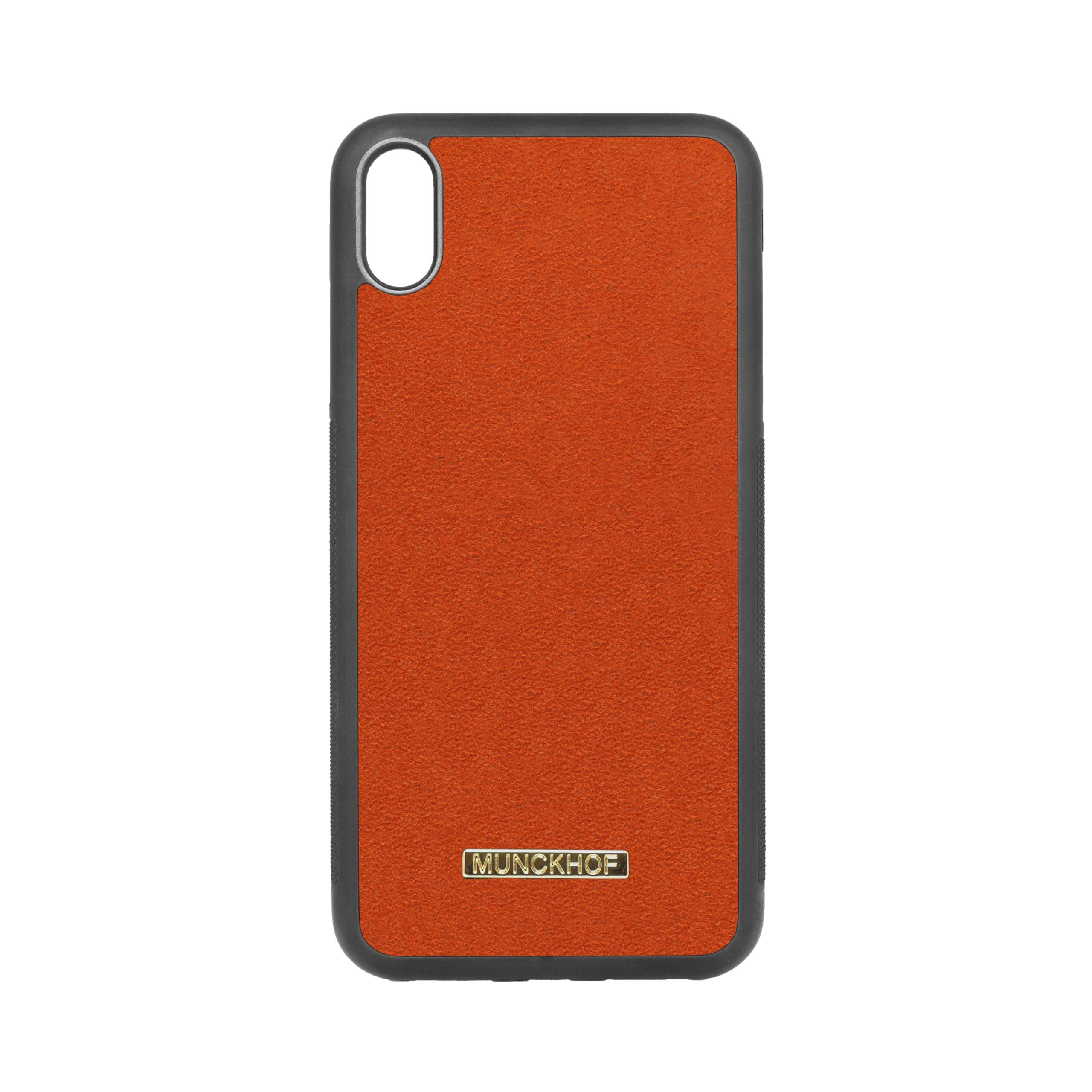 Orange Alcantara iPhone XS Max Case