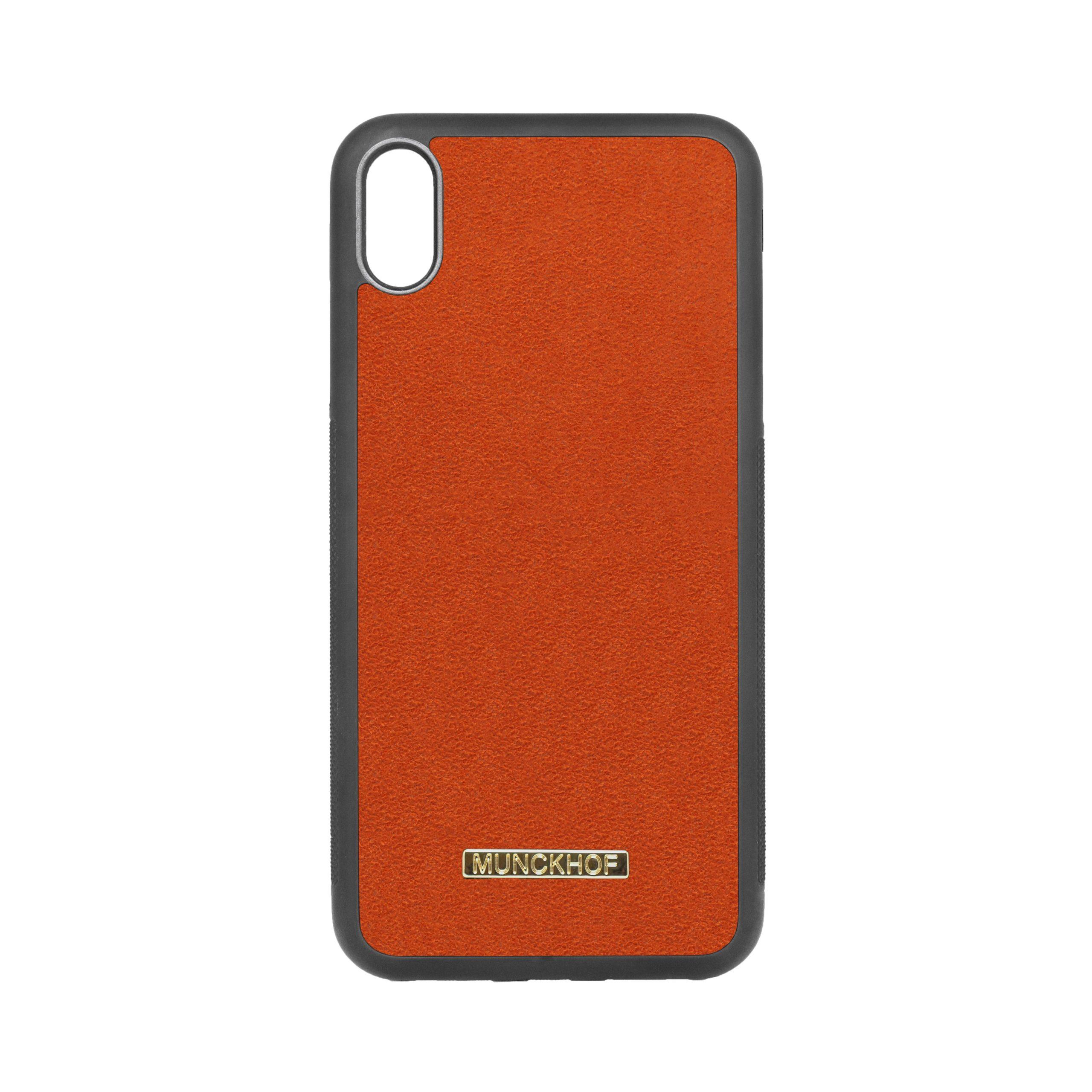 Orange Alcantara iPhone XS Max Case