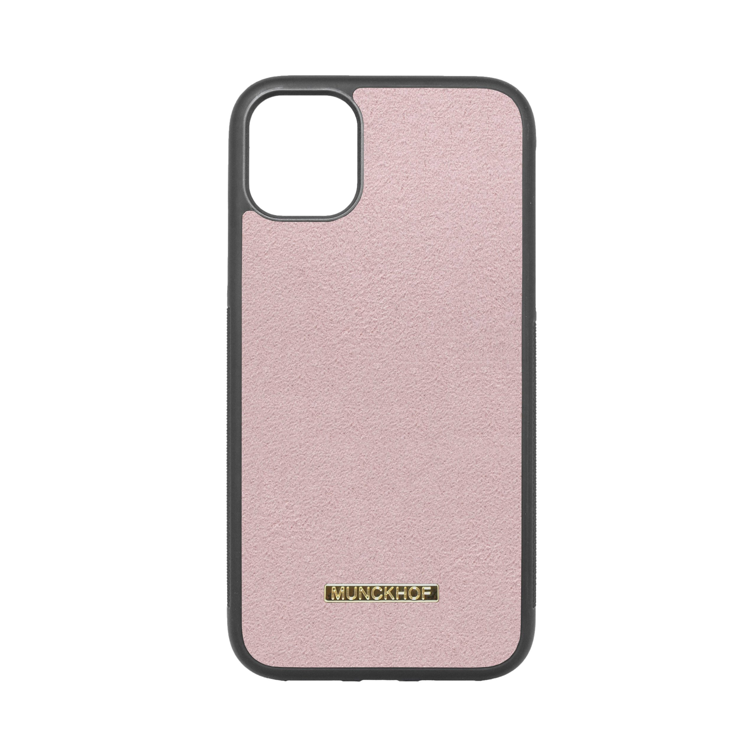 Pink Alcantara iPhone 11 Case