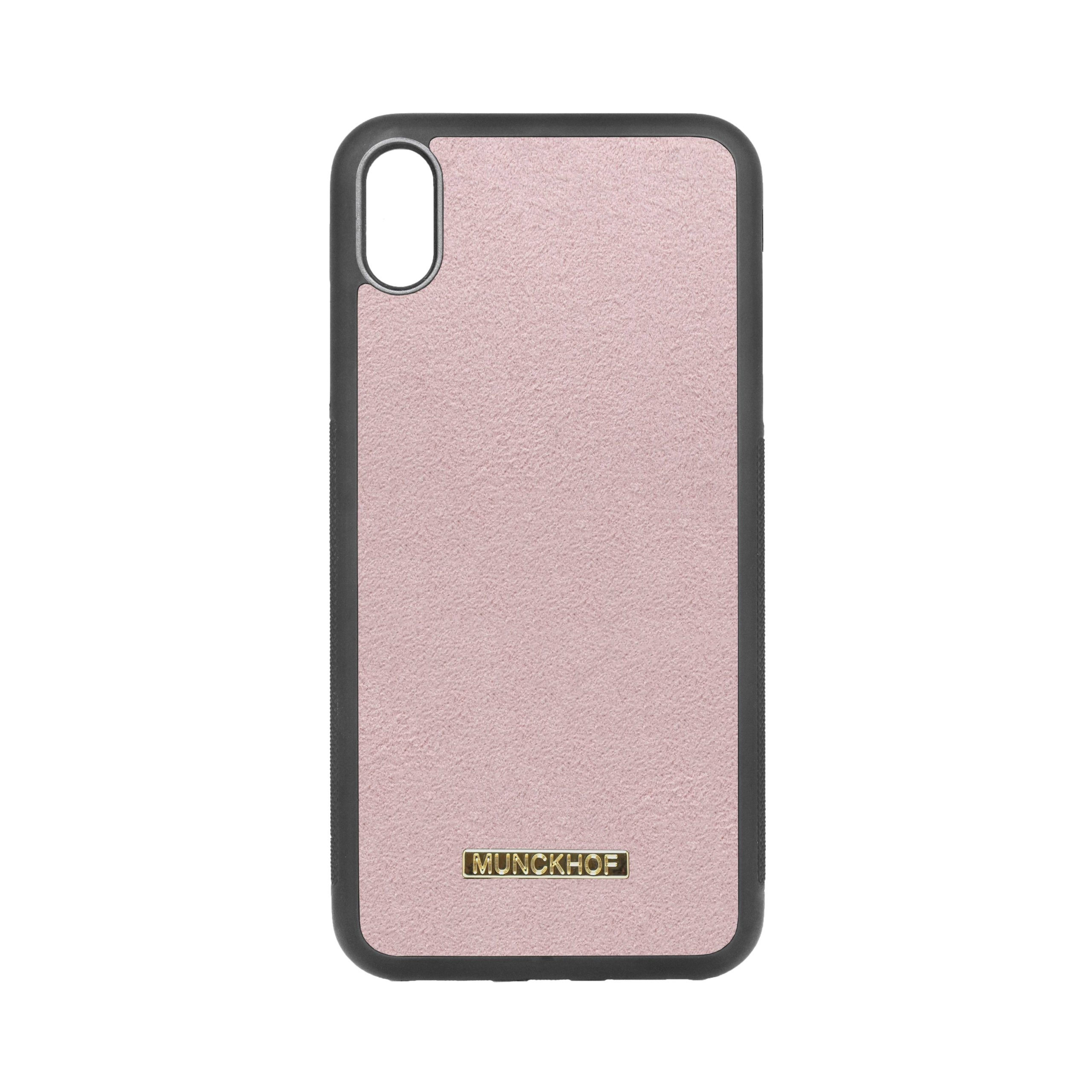 Pink Alcantara iPhone XS Max Case