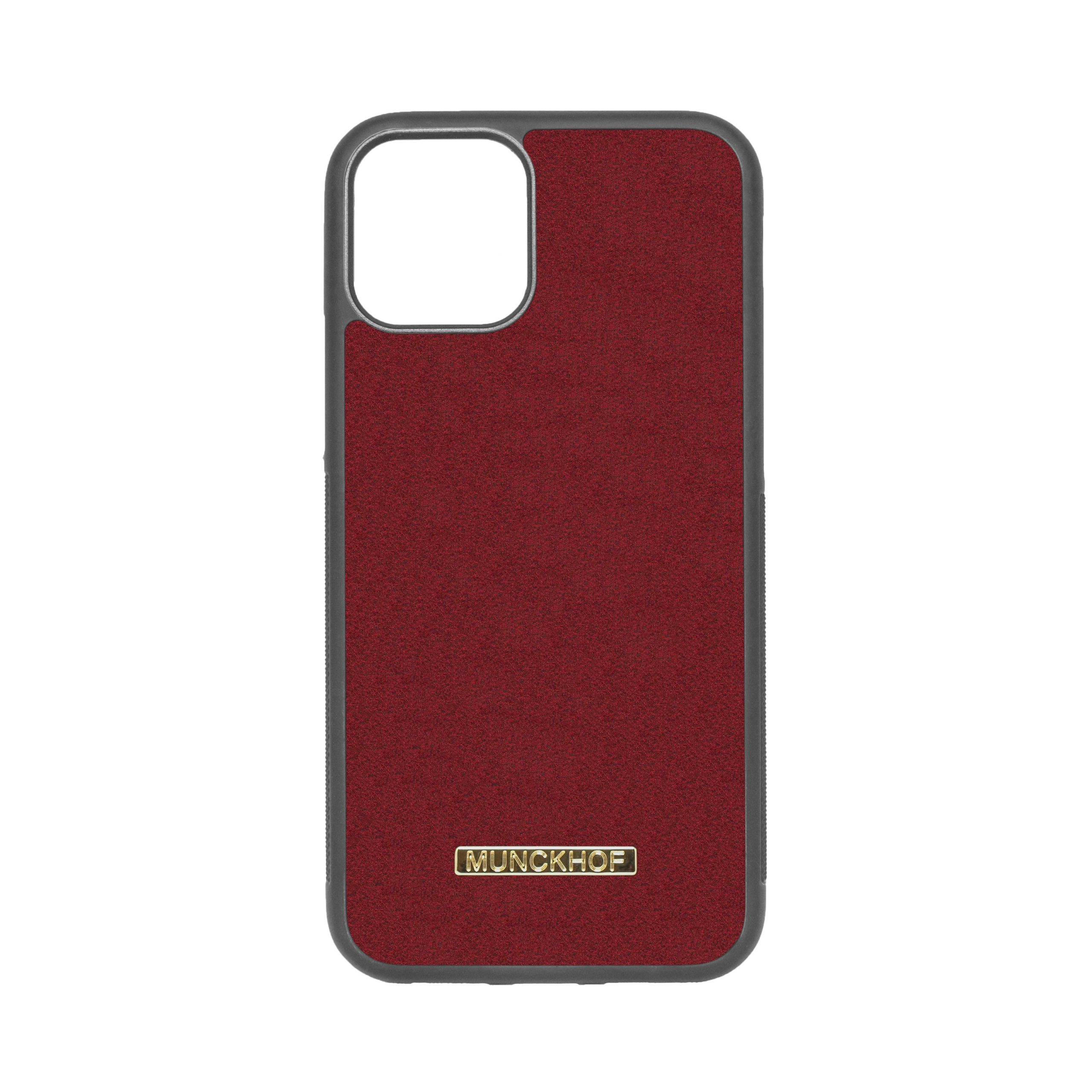 Red Alcantara iPhone 11 Pro Case