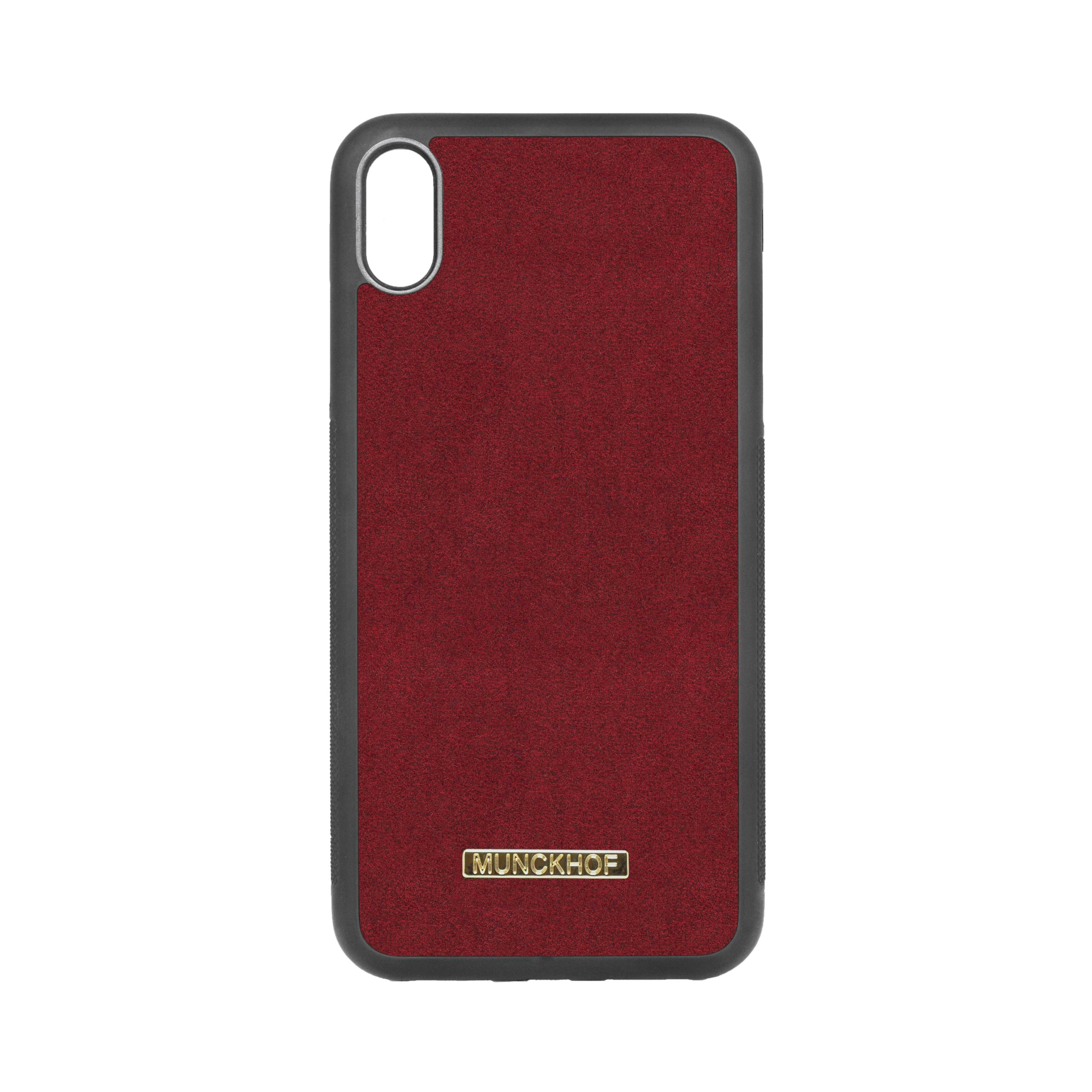 Red Alcantara iPhone XS Max Case