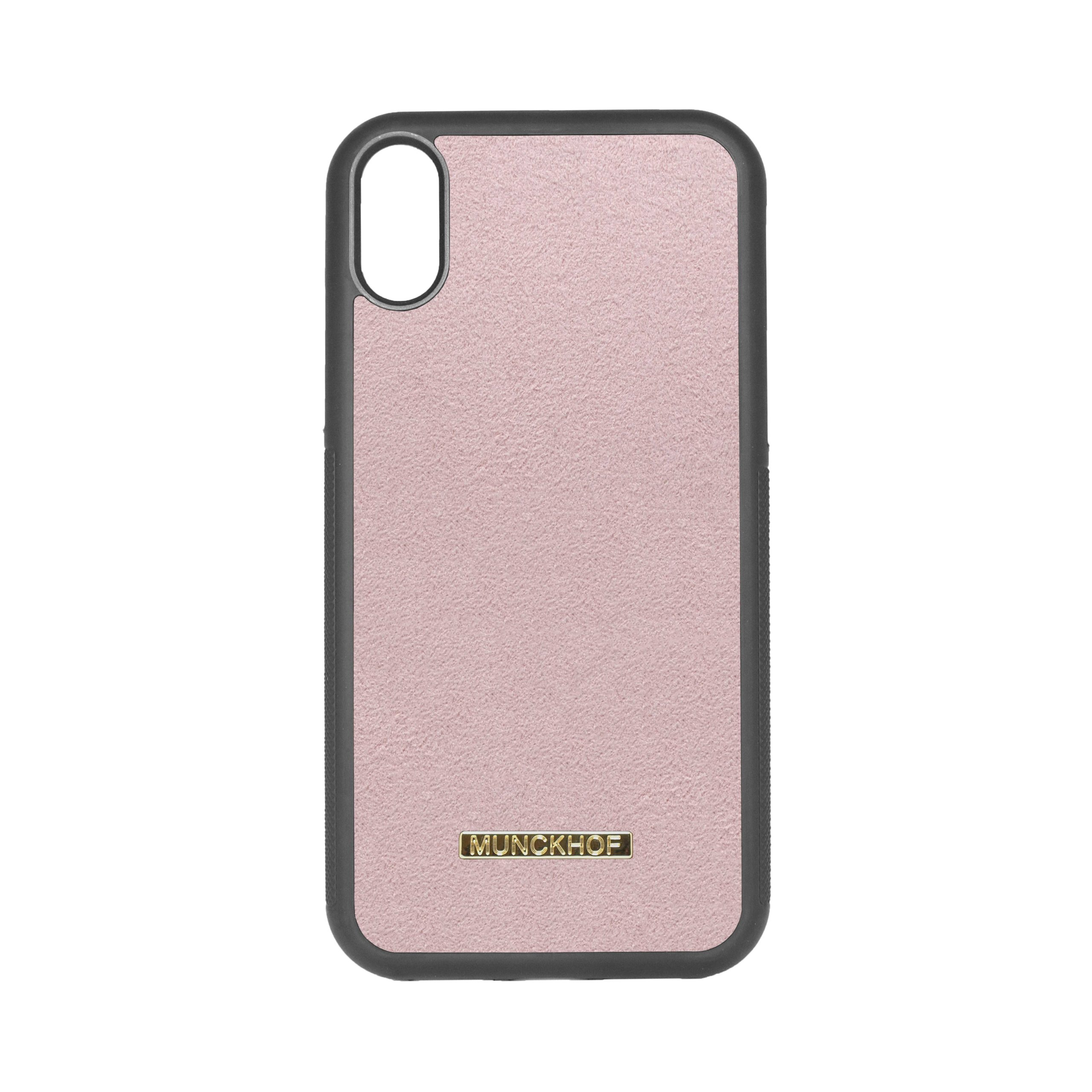 Pink Alcantara iPhone XR Case
